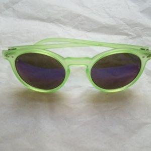 Green Frame Purple Lenses Sunglasses